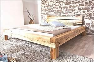 Doppelbett Selber Bauen Ideen : betten aus balken ~ Markanthonyermac.com Haus und Dekorationen