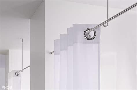 Gardinenstange Für Decke by Vorhangstange Aus Edelstahl Zur Wandbefestigung