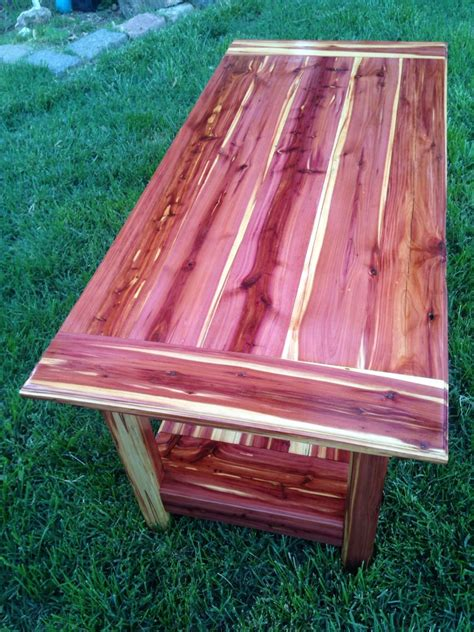 cedar coffee table    cedar logs milled  lumber