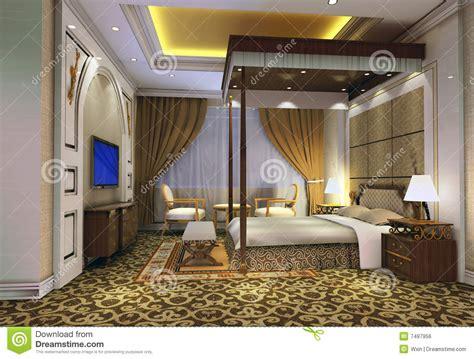 chambre 3d chambre à coucher 3d rendant 3 image libre de droits