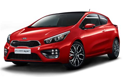 Kia Pro Ceed Gt Front Side View In Red Photo 5