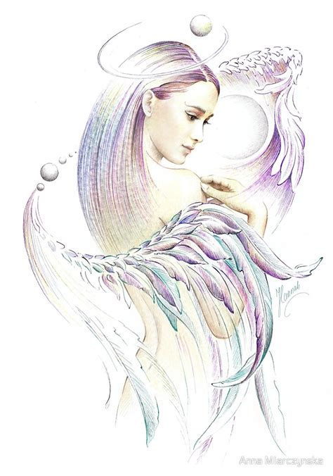 quot quot the virgo quot playing with wings protective angel for zodiac sign quot by anna miarczynska