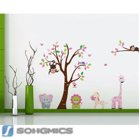 Kinderzimmer Deko Vögel by Wandtattoo Baum Affe Tiere Eule Wald Kinderzimmer Sticker
