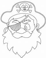 Pirate Mask Coloring Pages sketch template