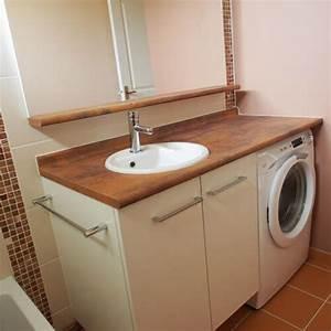 Meuble Salle De Bain Avec Lave Linge Integre : vasques encastr atlantic bain ~ Preciouscoupons.com Idées de Décoration