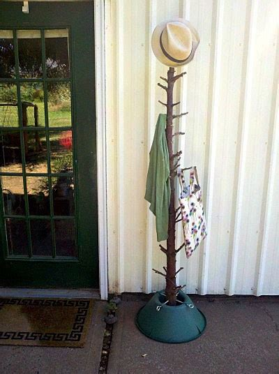 recycled christmas tree coat rack recycled crafts