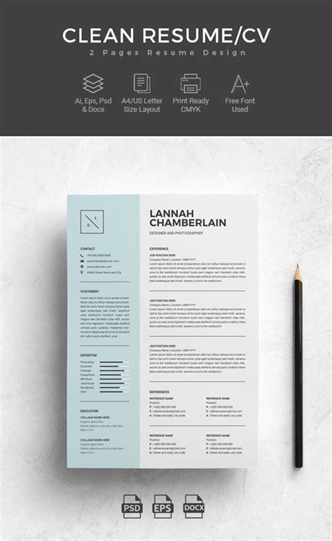 Microsoft Word Cv Template by 25 Professional Ms Word Resume Templates With Simple
