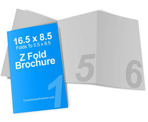 8 5 X 5 5 Accordion Fold Brochure Template 6 Page Accordion Fold Brochure Mockup Cover Actions