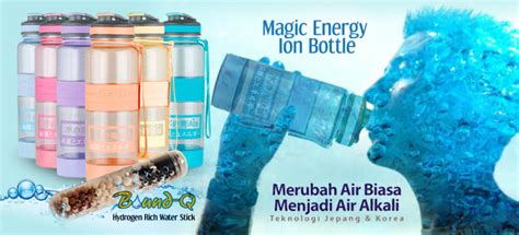 magic energy ion bottle botol air minum kesehatan cara