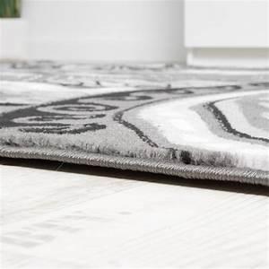Teppich Orientalisch Modern : designer teppich kurzflor mit glitzergarn klassisch orientalisch grau anthrazit wohn und ~ Sanjose-hotels-ca.com Haus und Dekorationen