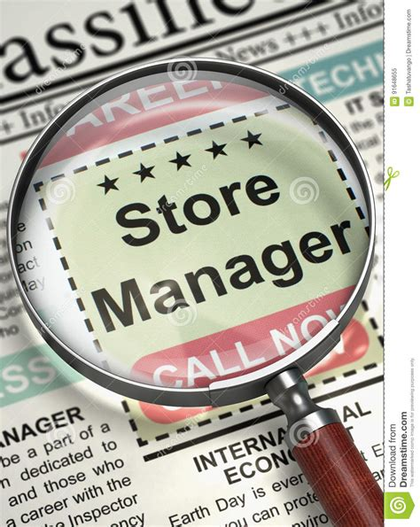 store manager job vacancy  stock image image