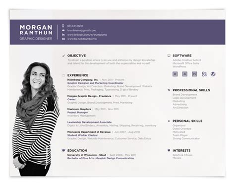 Style Cv by Landscape Resume Format Creative Resumes Creative Resume
