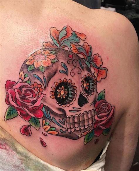 Tete De Mort Mexicaine Tatouage Tatouage T 234 Te De Mort Original 40 Id 233 Es 171 Memento Mori 187 En Styles Vari 233 S