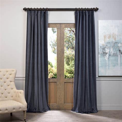 blue velvet curtains blue grey vintage cotton velvet curtain velvet drapes
