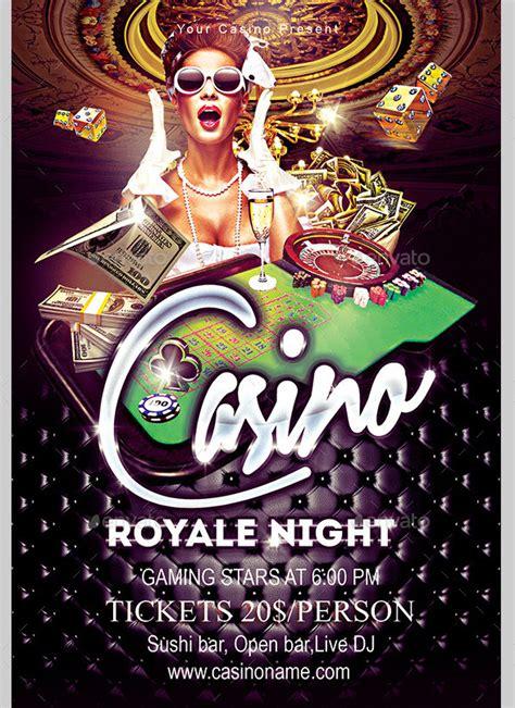 casino flyer templates  psd vector eps