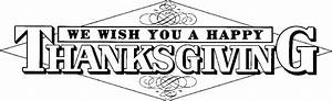 Happy Thanksgiving Clip Art Black And White – 101 Clip Art