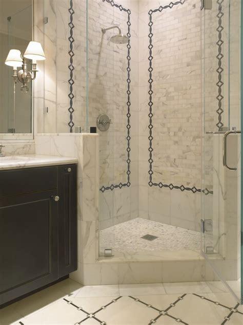 corner shower transitional bathroom sdg architects