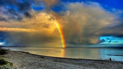 Rainbow Sea Desktop Background Wallpapers Definition Amazing