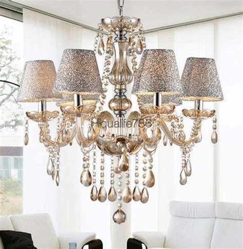 6 Light Chandelier With Shades by 6 Lights Chandelier Light Pendant L Ceiling