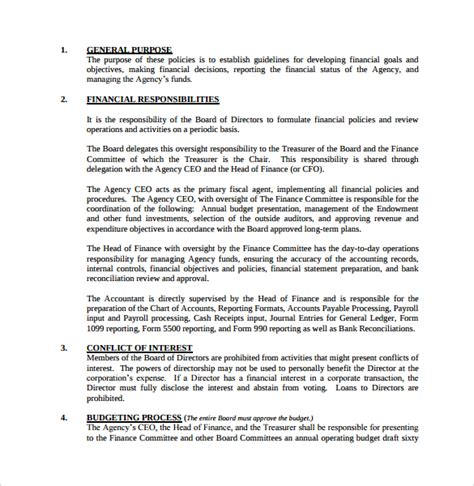 and policy template 12 policy and procedure templates to sle templates