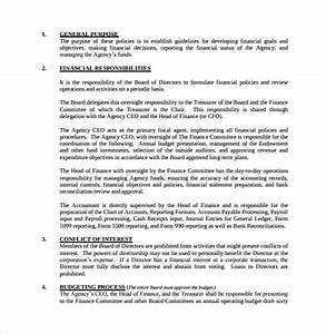 policy and procedure template mobawallpaper With finance sop template