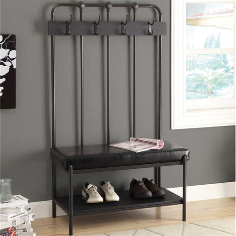 mudroom coat rack metal entryway coat rack and bench stabbedinback foyer