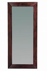 Miroir 180 Cm : miroir mural en bois 80 x 180 cm weng daffodil miliboo ~ Teatrodelosmanantiales.com Idées de Décoration