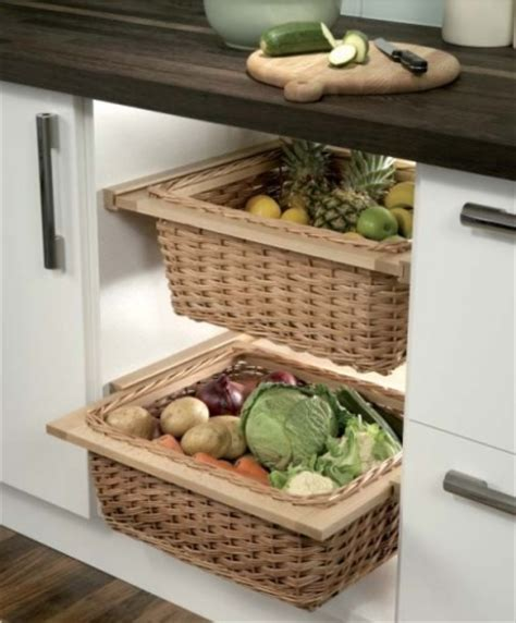 Wicker Kitchen Baskets For 400600 Mm Width Cabinets With