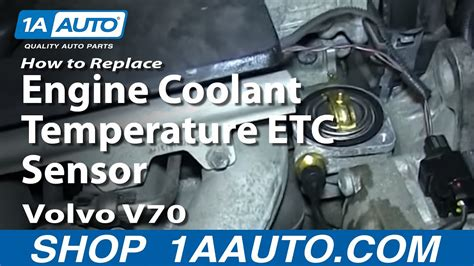 replace coolant temperature sensor   volvo