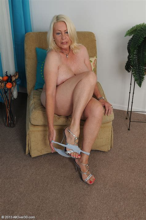 White Haired Miature Angelique Touches Her Pink Mu