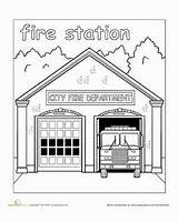 Coloring Places Pages Community Station Fire Town Preschool Worksheets Paint Building Para Preescolar Colorear Police Helpers Neighborhood Printable Around Play sketch template