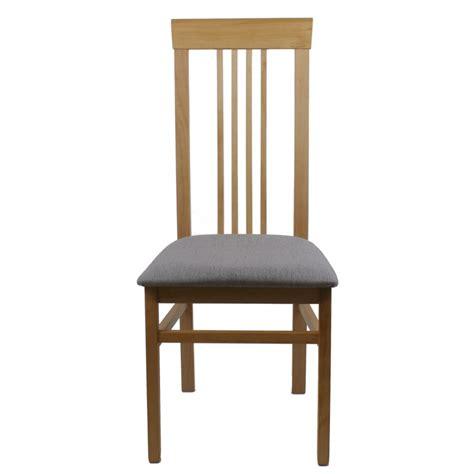 chaise bois et tissu chaise bois et assise tissu gris clair modèle