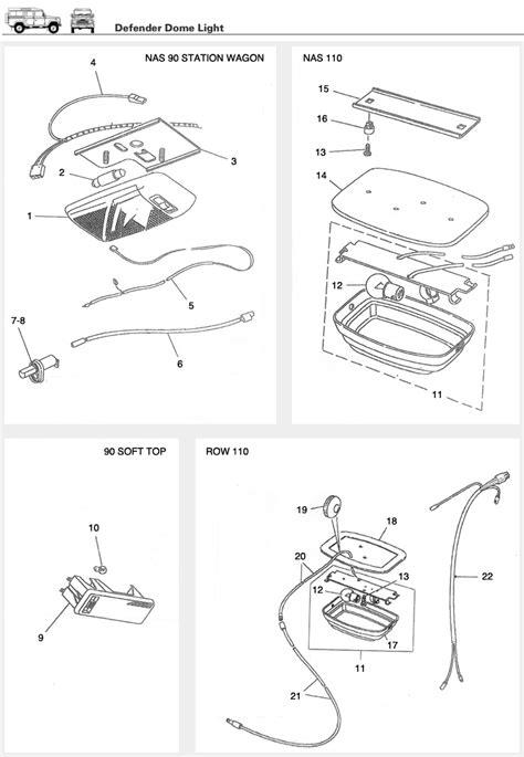 land rover defender interior light wiring diagram defender dome light interior l and bulb assembly