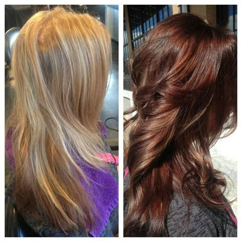 Before And After To Brown by Beautiful To Auburn Hair Color For Fall 2016