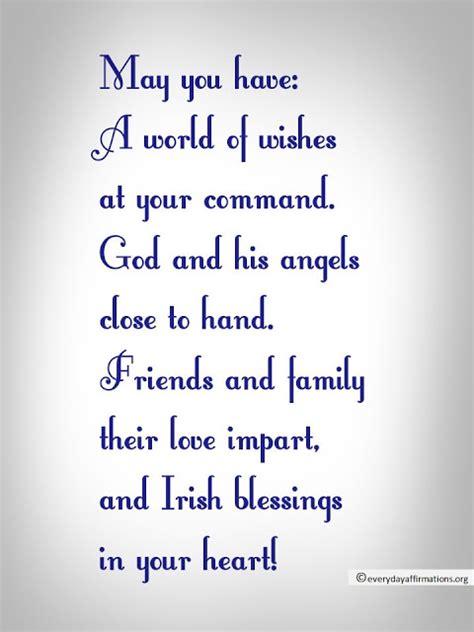irish blessings everyday affirmations