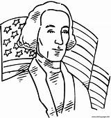 Washington George Coloring President United States Independence Usa Flag 1st Drawing Printable Behind Event July 4th Patriots Revolutionary War Celebration sketch template