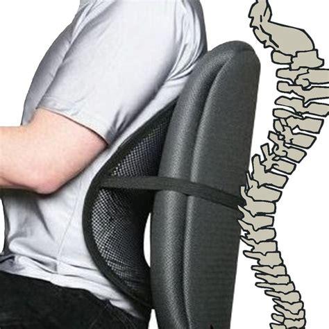 black cool air back mesh lumbar home office car seat chair