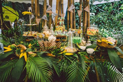 jungle theme birthday party decoration ideas elitflat