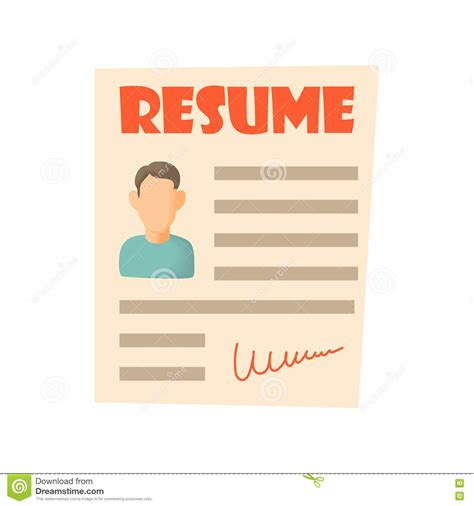 Affordable and search from millions of royalty free images search 123rf with an image instead of text. Resume icon, cartoon style stock vector. Illustration of ...