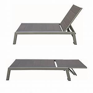 Bain De Soleil Aluminium : bain de soleil barbados en textil ne taupe aluminium taupe ~ Dailycaller-alerts.com Idées de Décoration