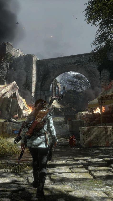 wallpaper rise   tomb raider lara croft  games