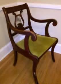 vintage duncan phyfe lyre harp back mahogany dining room captains chair ebay