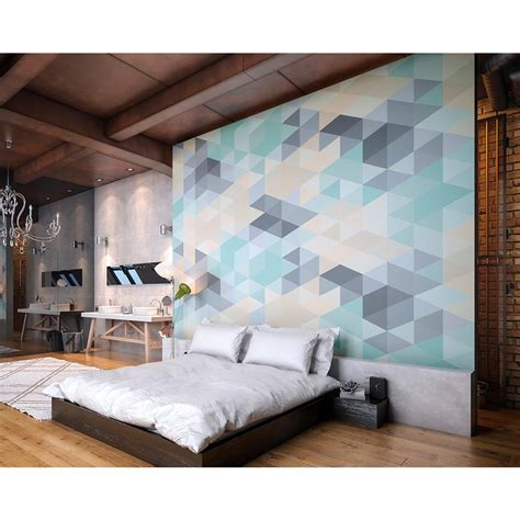 Lovely Pastel Wall Mural Design Ideas by Ohpopsi Pastel Triangles Wall Mural Wals0279 The Home Depot