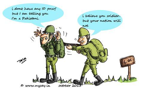 ceasefire violation  pakistan cartoons doodles quotes