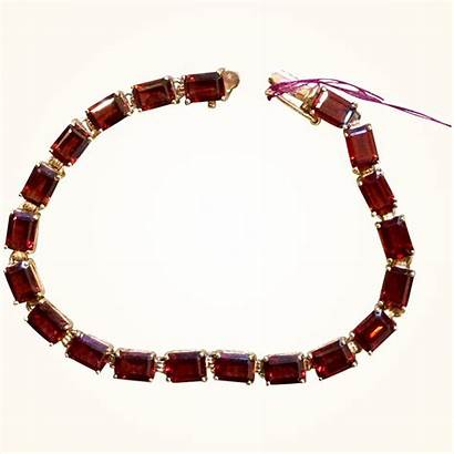 Garnet Rhodolite Bracelet Tennis Carat Gold 14k