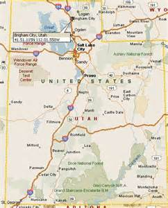 Utah Map Counties and Cities