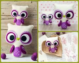 Felt Owl Pattern Eyes