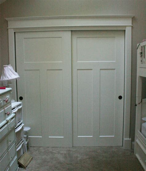 Trimming Closet Doors by Casings And Lathe On Closet Doors Dress Up The