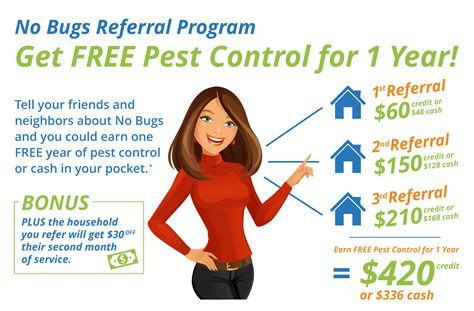 referral program  bugs organic pest control service
