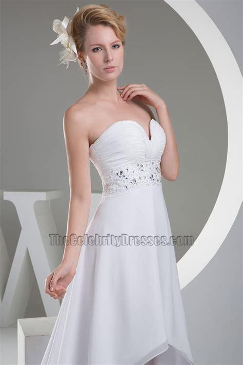 strapless sweetheart   chiffon   wedding dress